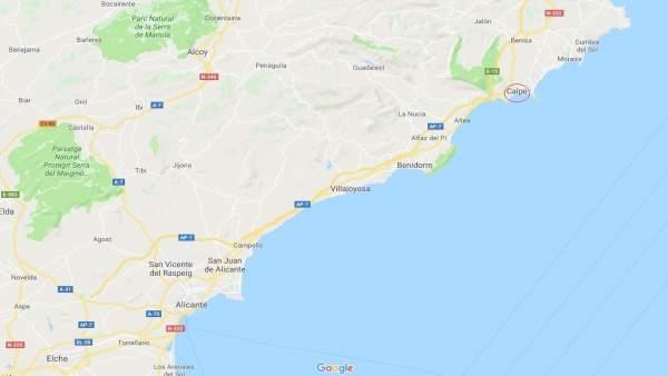 Localización de Calp (Alicante)