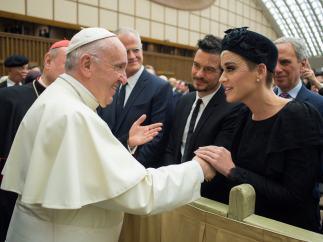 Orlando Bloom Katy Perry Papa Francisco