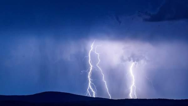 Impresionante tormenta en Madrid