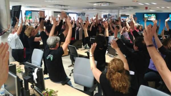 Protesta en RTVE