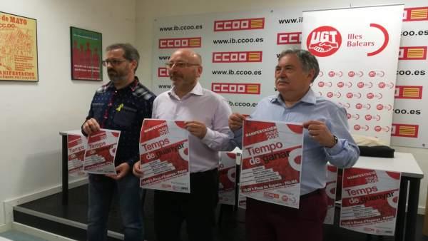 STEI, CCOO y UGT presentan los actos por el 1 de mayo