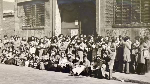 Protesta en la fábrica en los setenta