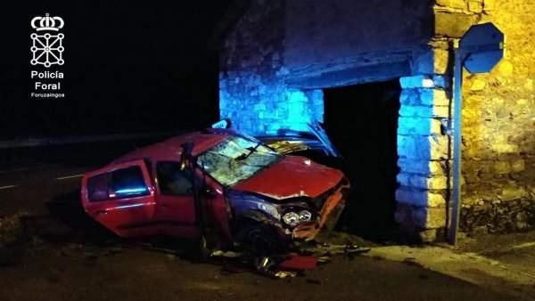 Accidente en Latasa.