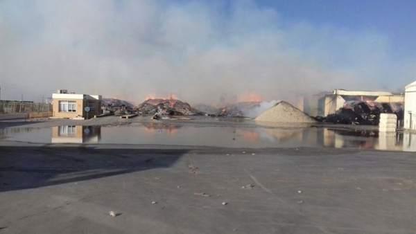 La cooperativa Las Marismas tras el incendio