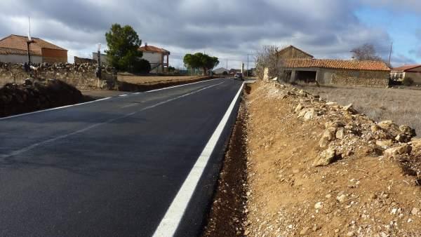 La DPZ ha arreglado la travesía de Torralba de los Frailes, en la CV-670