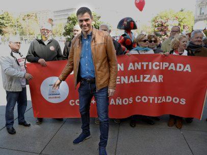 Sánchez, antes de la marcha del 1 de mayo