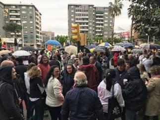 Concentración por los profesores de Sant Andreu de la Barca denunciados