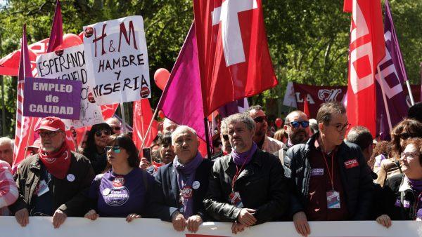 Marcha por el Primero de Mayo en Madrid