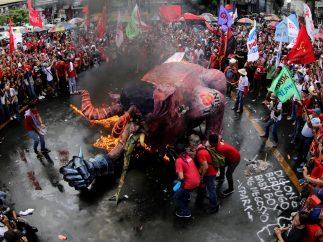 Protesta contra Duterte en Filipinas