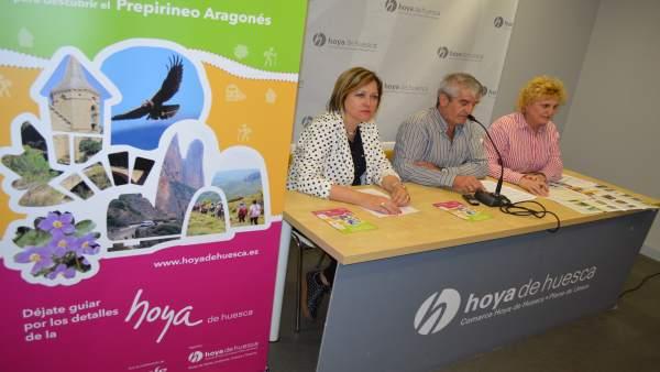 Presentación del programa de visitas guiadas por la Comarca de Hoya de Huesca