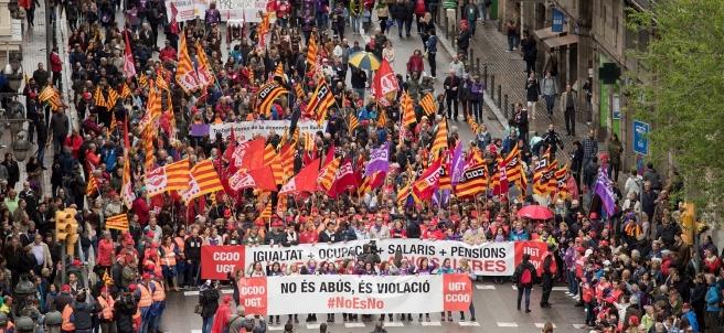 Primero de mayo en Barcelona