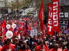 Manifestación en Madrid con motivo del Primero de Mayo.