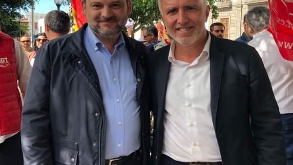 José Luis Ábalos y Ángel Víctor Torres