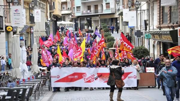 Manifestación del 1 de mayo en Teruel