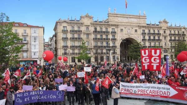 Concentración Primero de Mayo en Santander
