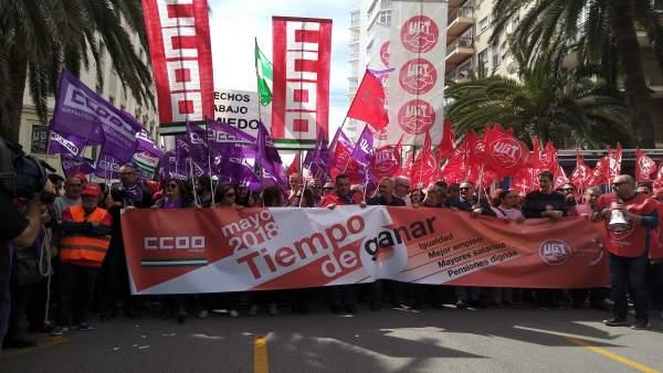 Manifestación del 1 de mayo en Málaga