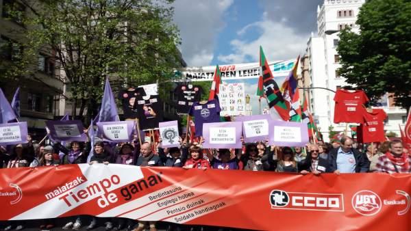 Celebración del Primero de Mayo de CCOO y UGT