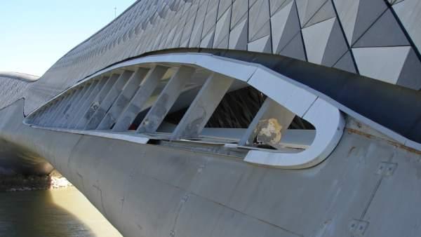 La Asociación Legado Expo ha advertido del deterioro del Pabellón Puente