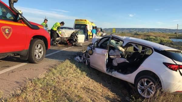 Dos heridos en un accidente de circulación en la A-124 en Erla