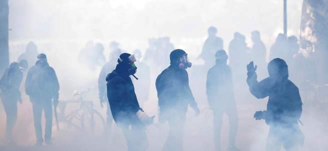 Manifestación en París por el 1 de Mayo
