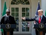 Trump recibe al presidente de Nigeria