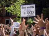 Protestas contra la sentencia de La Manada ante los actos oficiales del Dos de Mayo.