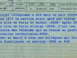 Último telegrama de Francia