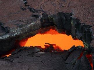 Magma candente en el Kilauea