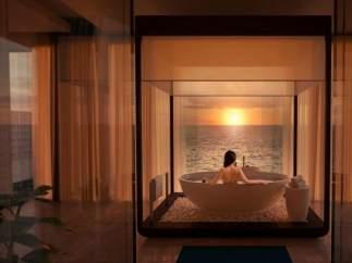 Una bañera para ver el amanecer