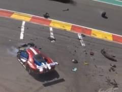 Ford accidentado en Spa