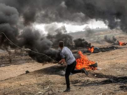 Enfrentamientos en Gaza, Palestina.