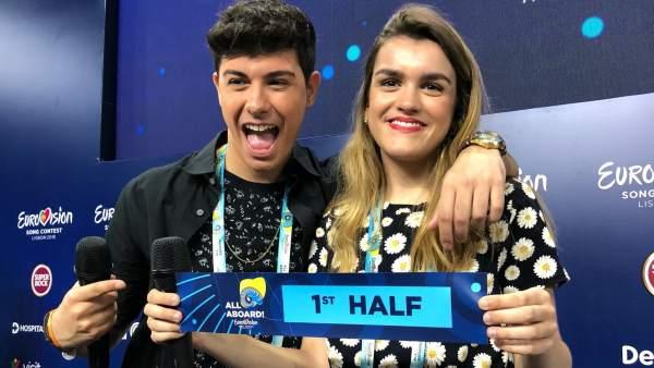 Amaia y Alfred actuarán en la primera mitad