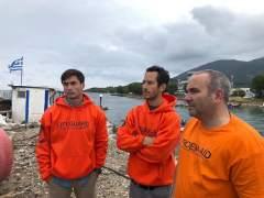 Bomberos sevillanos detenidos en Lesbos