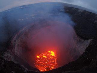 Cráter incandescente