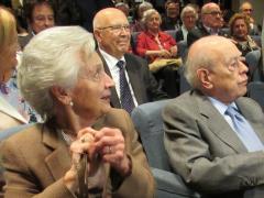 El expresidente de la Generalitat  Jordi Pujol y su mujer