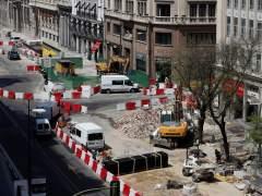 Calle Alcalá cortada