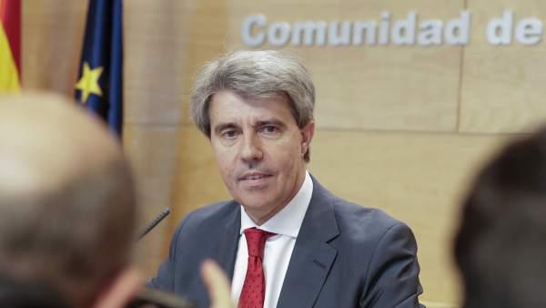 El presidente en funciones de la Comunidad de Madrid, Ángel Garrido