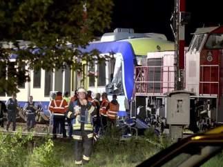 Accidente de trenes en Alemania