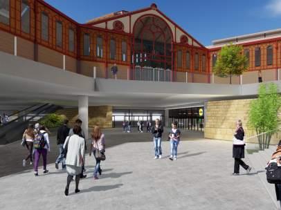 Imagen virtual del supermercado de Lidl en el Mercat de Sant Antoni.