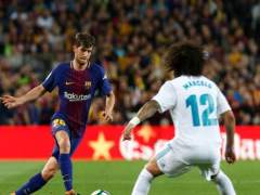 Sergi Roberto (Barcelona) y Marcelo (Real Madrid) en el Clásico