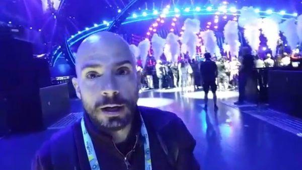 Gus Hernández, en Eurovision 2018
