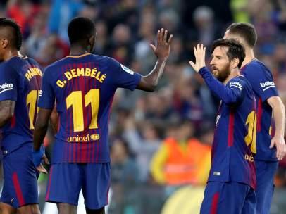 Dembélé y Messi
