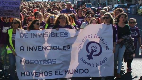 Huelga feminista del 8 de marzo 2018.