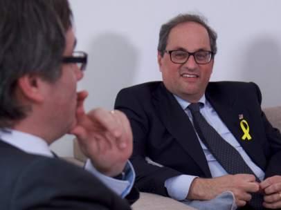 Carles Puigdemont y Quim Torra