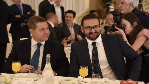Emiliano García-Page y Sergio Gutiérrez, PSOE