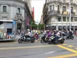 Motos en Gran Vía