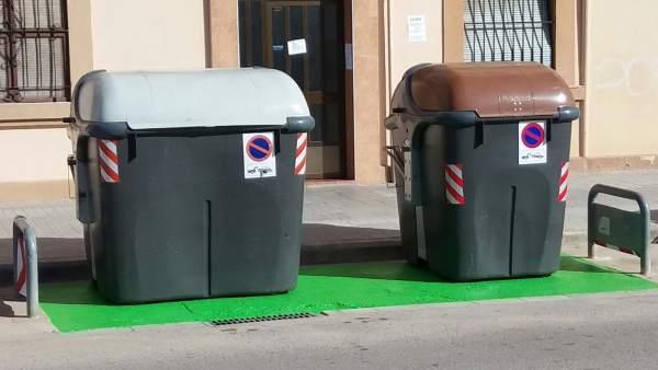 Contenedores de basura en València