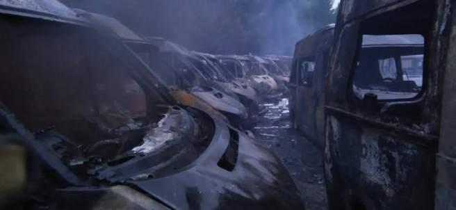 Ambulancias quemadas