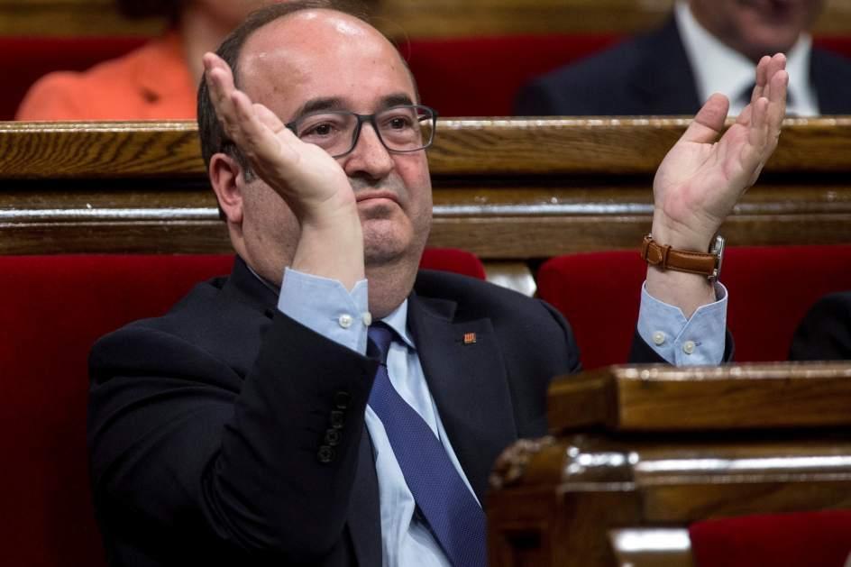 Miquel Iceta, este sábado en el Parlament.