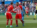 Koke Resurrección celebra un gol